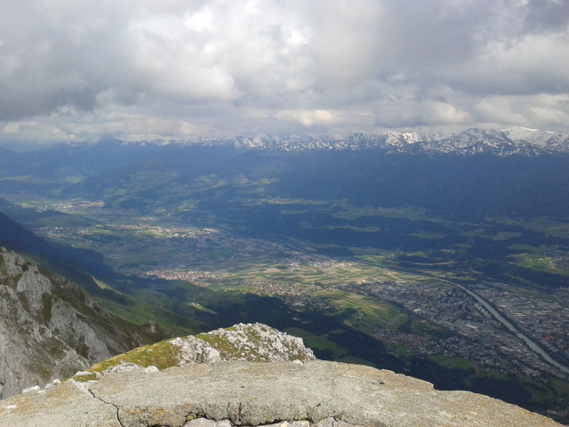 The view over beautiful Innsbruck in Austria